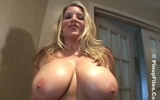 Jana Defi and Maggie Green Fun Showing the Huge Yummy Treasure Titties