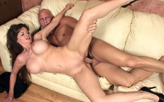 Beautiful long-haired MILF sucks and gets her pussy fucked!
