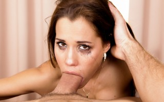 Satin Bloom shoves a massive meat shaft down her throat