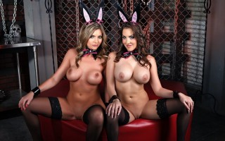 Mr. Strong produces the best bunnies on the planet. Brianna and Kiera\'s tails and tits are twitching, and they\'re ready to play! John Strong is going to whip these giggling girlies into shape, and make this Easter the best one yet! Hop to it