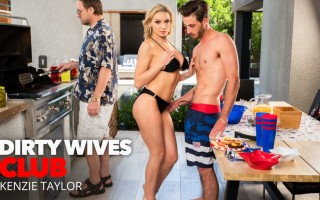 Dirty Wife Kenzie Taylor fucks the new neighbor memorial day style