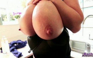 Heya there guys! It is time for some more of my impossibly huge boobs busting out of my bra here -- I keep telling you how hard it is to find bras for a pair of 30M big tits! Hope you enjoy it! ;-)