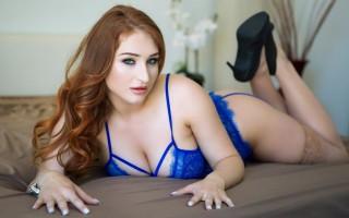 Rough sex with busty redhead Skylar Snow