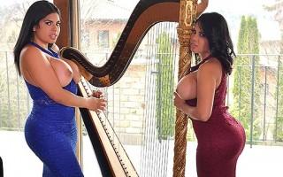 Curvy Goddesses Sheila Ortega & Kesha Ortega Moan & Cream