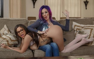 Jelena Jensen disciplines Cassidy Banks like a mother
