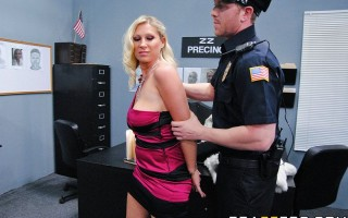 Devon Lee is a chronic subway groper who is well known for molesting big cocked men in the area. Fed up with Devon's constant violations of public decency, police chief Johnny Sins takes her into his office to set her straight. But Devon, being the crafty