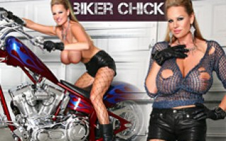 Kelly puts on her leather and gets down on Ryan's hog.
