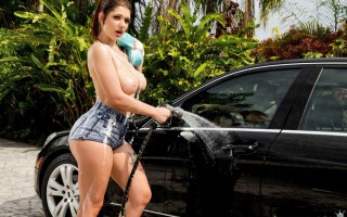 April Dawn car boob wash