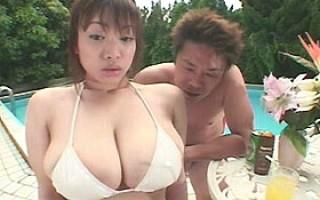 Shoko Goto playing with her big natural tits