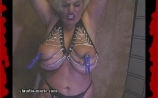Claudia-Marie\'s Big Saggers Get Tied Up & Abused