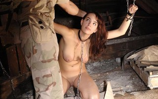 Conqueror Forces Defiant Captive To Suck Dick & Give Her Ass