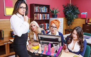 Danica Dillan is substitute teaching etiquette at a local all girl's private school, and she's come prepared. Rocking a suitcase full of dildos, Danica tries to teach those slutty schoolgirls the only real etiquette they'll ever need: dick sucking! But wh