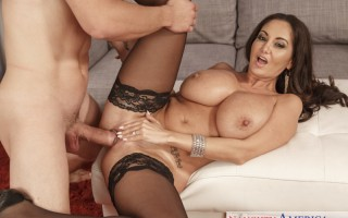 Dirty Wives Club featuring Ava Addams fucking in the couch with her medium ass