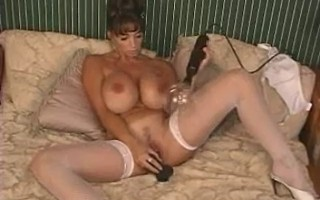 Summer Cummings Fucking Big Black Dildo