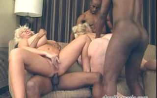 3 black studs anally violate huge tit superstars Claudia-Marie & Kayla Kleevage