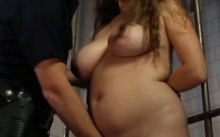 Lubricious Adventure: Chubby Chick Fucked in Jail Cell