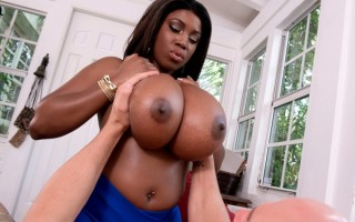 Busty black girl MASERATI Cumming Round Her Mountains