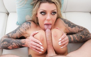 Big-boob Karma Rx Karma manhandled & creampied