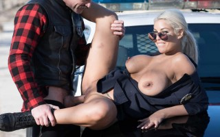 Bridgette B To Serve And Protect with her big tits