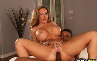 Busty step-mom Richelle Ryan adopts a black cock